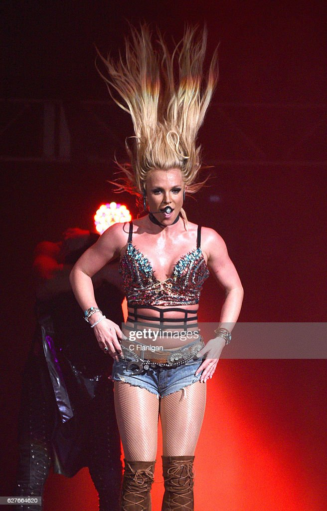 Singer Britney Spears performs during the Now! 99.7 Triple Ho Show 7.0 at SAP Center on December 3, 2016 in San Jose, California.