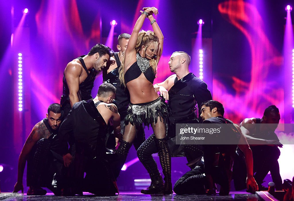 Singer Britney Spears performs onstage at the 2016 iHeartRadio Music Festival at T-Mobile Arena on September 24, 2016 in Las Vegas, Nevada.