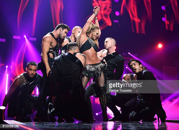 Singer Britney Spears performs onstage at the 2016 iHeartRadio Music Festival at TMobile Arena on September 24 2016 in Las Vegas Nevada