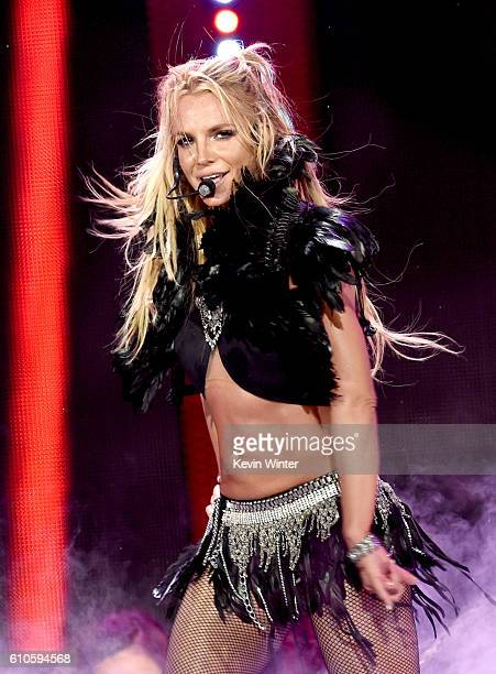 Singer Britney Spears performs onstage at the iHeartRadio Music Festival at TMobile Arena on September 24 2016 in Las Vegas Nevada