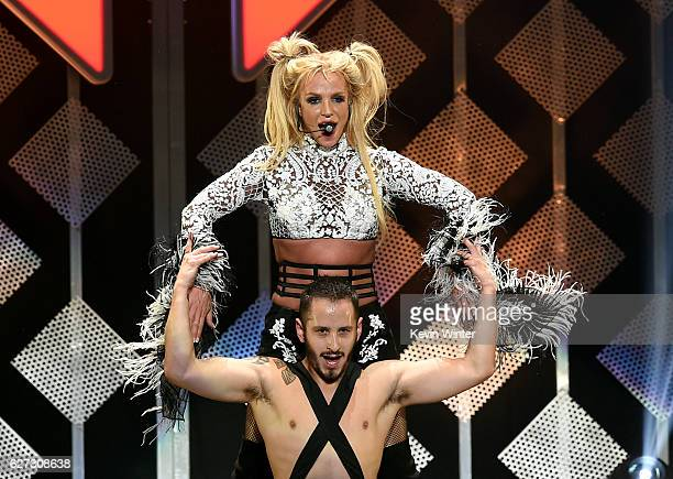 Singer Britney Spears performs onstage during 102.7 KIIS FM's Jingle Ball 2016 presented by Capital One at Staples Center on December 2, 2016 in Los...