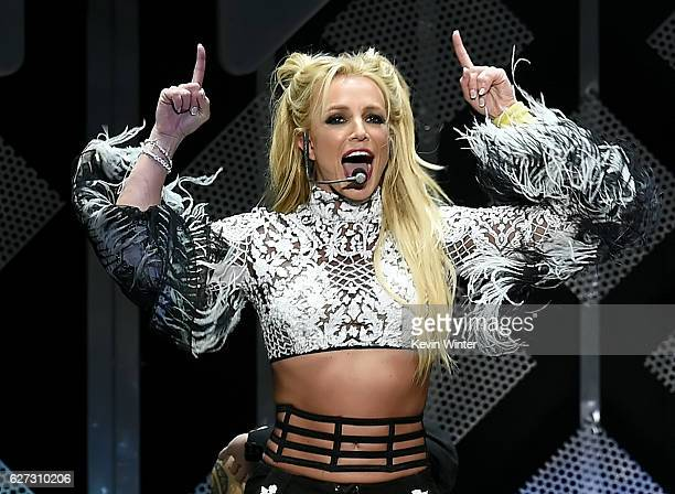 Singer Britney Spears performs onstage during 1027 KIIS FM's Jingle Ball 2016 presented by Capital One at Staples Center on December 2 2016 in Los...