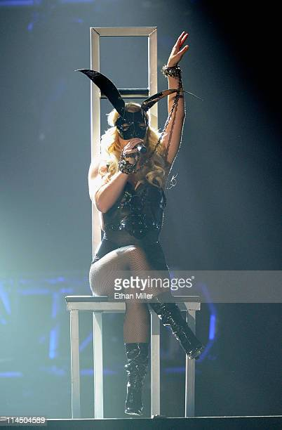 Singer Britney Spears performs onstage during the 2011 Billboard Music Awards at the MGM Grand Garden Arena May 22 2011 in Las Vegas Nevada