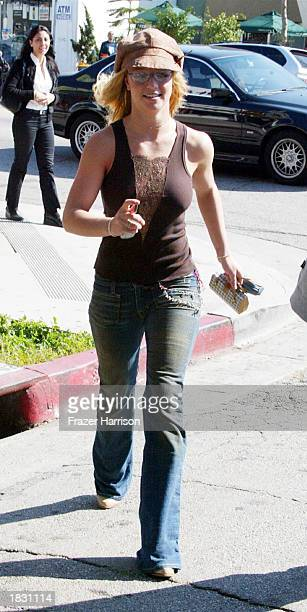 Singer Britney Spears shops on Melrose Avenue on March 5 2003 in Los Angeles California