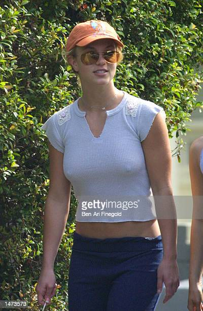 Singer Britney Spears takes an afternoon stroll on October 13 2002 in West Hollywood California