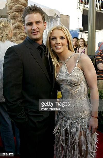 Singer Britney Spears with her brother Ryan attend the 31st Annual American Music Awards at The Shrine Auditorium November 16 2003 in Los Angeles...