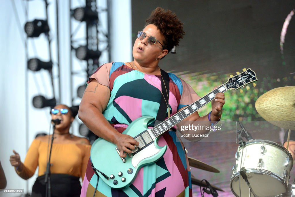 Singer Brittany Howard of Alabama Shakes performs onstage during Arroyo Seco Weekend at the Brookside Golf Course on June 24, 2017 in Pasadena, California.
