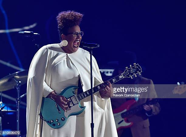 Singer Brittany Howard of Alabama Shakes performs onstage during The 58th GRAMMY Awards at Staples Center on February 15 2016 in Los Angeles...