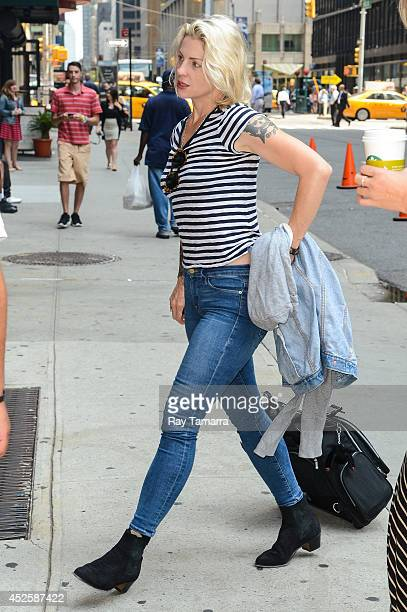 Singer Brody Dalle enters the 'Late Show With David Letterman' taping at the Ed Sullivan Theater on July 23 2014 in New York City