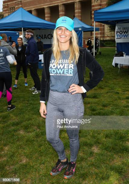 Singer Brooke Ansley attends the Power Of Tower run/walk at UCLA on March 11 2018 in Los Angeles California