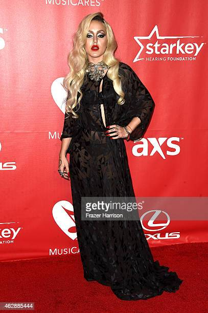 Singer Brooke Candy attends the 25th anniversary MusiCares 2015 Person Of The Year Gala honoring Bob Dylan at the Los Angeles Convention Center on...