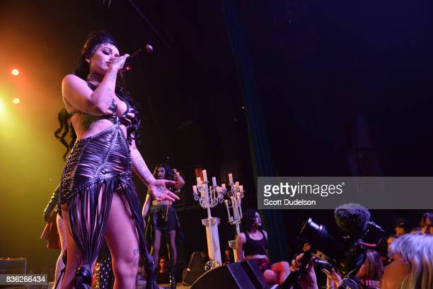 Singer Brooke Candy performs onstage during the GIRL CULT Festival at The Fonda Theatre on August 20 2017 in Los Angeles California