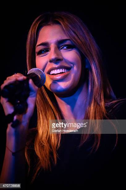 Singer Brooke Fraser performs live on stage during a concert at Frannz Club on April 22 2015 in Berlin Germany