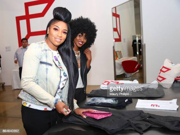 Singer Brooke Valentine and guest attend Concreet offcial launch and mixer at Milk Studios on October 20 2017 in Hollywood California