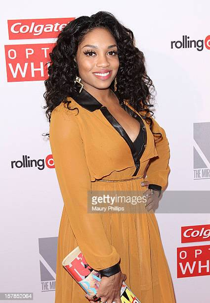 Singer Brooke Valentine attends Rolling Out Mirror Mirror Awards at Rolling Stone Restaurant Lounge on December 6 2012 in Los Angeles California