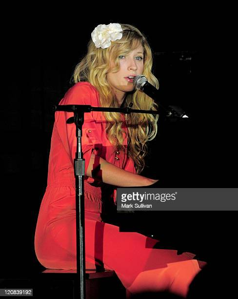 Singer Brooke White performs during the Life Changing Lives Gala at St Regis Monarch Beach Resort on September 11 2009 in Dana Point California