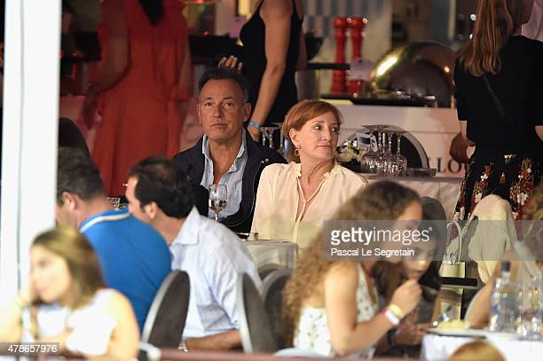 Singer Bruce Springsteen and wife Patti Scialfa attend the Longines ProAm Cup Monaco during the 10th International MonteCarlo Jumping on June 26 2015...