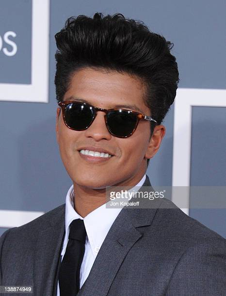 Singer Bruno Mars arrives at 54th Annual GRAMMY Awards held the at Staples Center on February 12 2012 in Los Angeles California