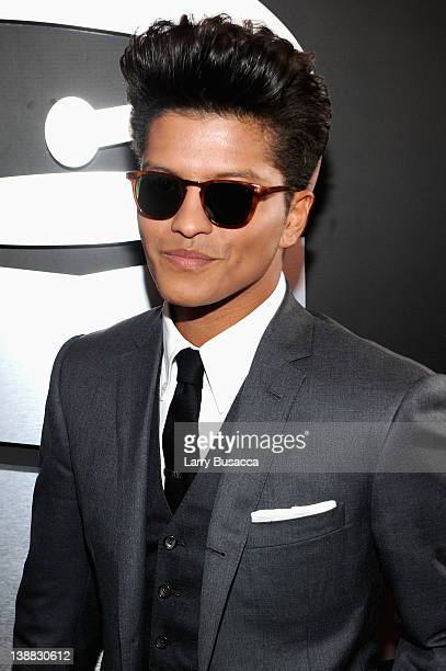 Singer Bruno Mars arrives at the 54th Annual GRAMMY Awards held at Staples Center on February 12, 2012 in Los Angeles, California.
