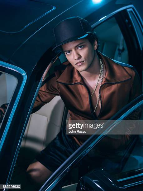 Singer Bruno Mars is photographed for Latina Magazine on October 21 2016 in Los Angeles California
