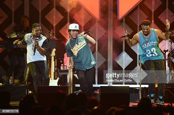 Singer Bruno Mars performs at 1027 KIIS FM's Jingle Ball 2016 at Staples Center on December 2 2016 in Los Angeles California