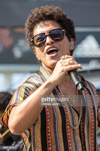 Singer Bruno Mars performs at 102.7 KIIS FM's Wango Tango 2013 at The Home Depot Center on May 11, 2013 in Carson, California.