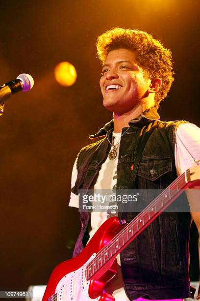 Singer Bruno Mars performs live during a concert at the Astra on March 3 2011 in Berlin Germany