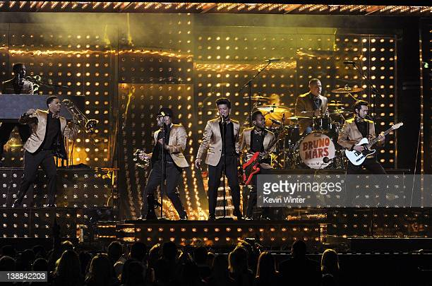 Singer Bruno Mars performs onstage at the 54th Annual GRAMMY Awards held at Staples Center on February 12 2012 in Los Angeles California