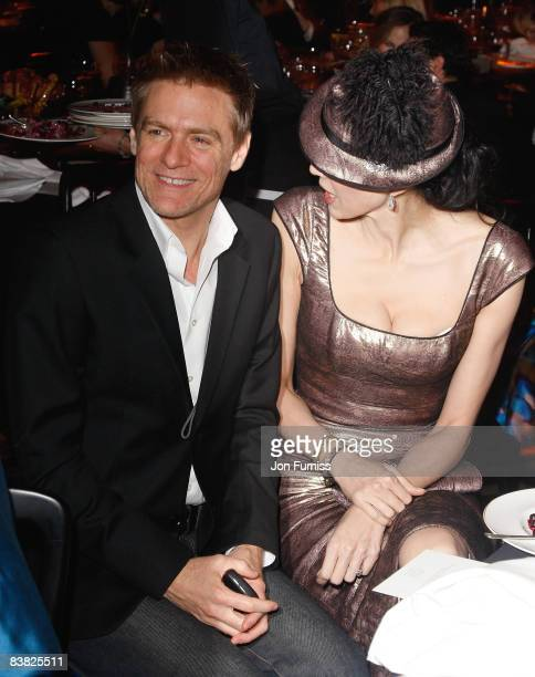 Singer Bryan Adams and fashion designer L'Wren Scott during the British Fashion Awards 2008 held at The Lawrence Hall on November 25 2008 in London...