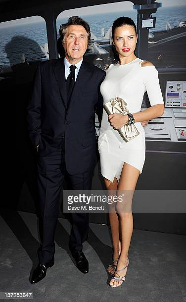 Singer Bryan Ferry and model Adriana Lima attend the IWC Top Gun Gala Event at 22nd SIHH High Jewellery Fair on at the Palexpo Exhibition Hall...