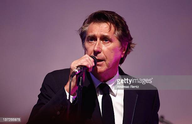 Singer Bryan Ferry perfoems on stage at the IWC Schaffhausen Top Gun Gala Event during the 22nd SIHH High Jewellery Fair at the Palexpo Exhibition...