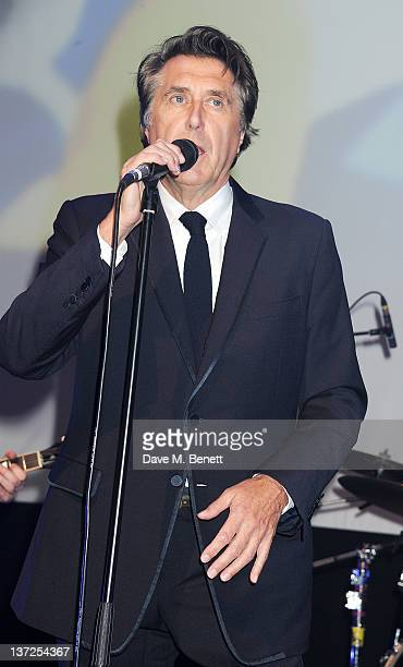 Singer Bryan Ferry performs at the IWC Top Gun Gala Event at 22nd SIHH High Jewellery Fair on at the Palexpo Exhibition Hall January 17, 2012 in...