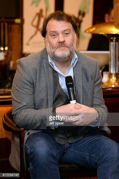 Singer Bryn Terfel at the Launch of The Programme For Festival Of Voice Cardiff 2016 at Bar American on February 25 2016 in London England