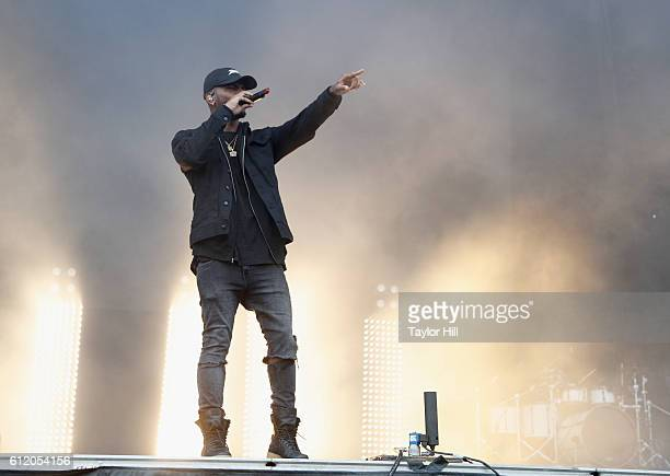 Singer Bryson Tiller performs onstage during The Meadows Music Arts Festival Day 2 on October 2 2016 in Queens New York