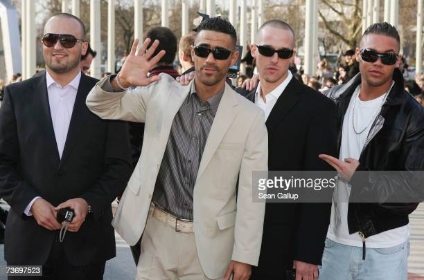 Singer Bushido and his band attend the ECHO 2007 German music awards on March 25 2007 in Berlin Germany
