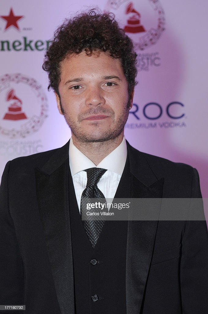 Singer Cabas attend the Latin GRAMMY Acoustic Session at Country Club de Bogota on August 21, 2013 in Bogota, Colombia.