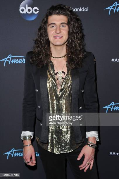 Singer Cade Foehner arrives at ABC's 'American Idol' show on May 6 2018 in Los Angeles California