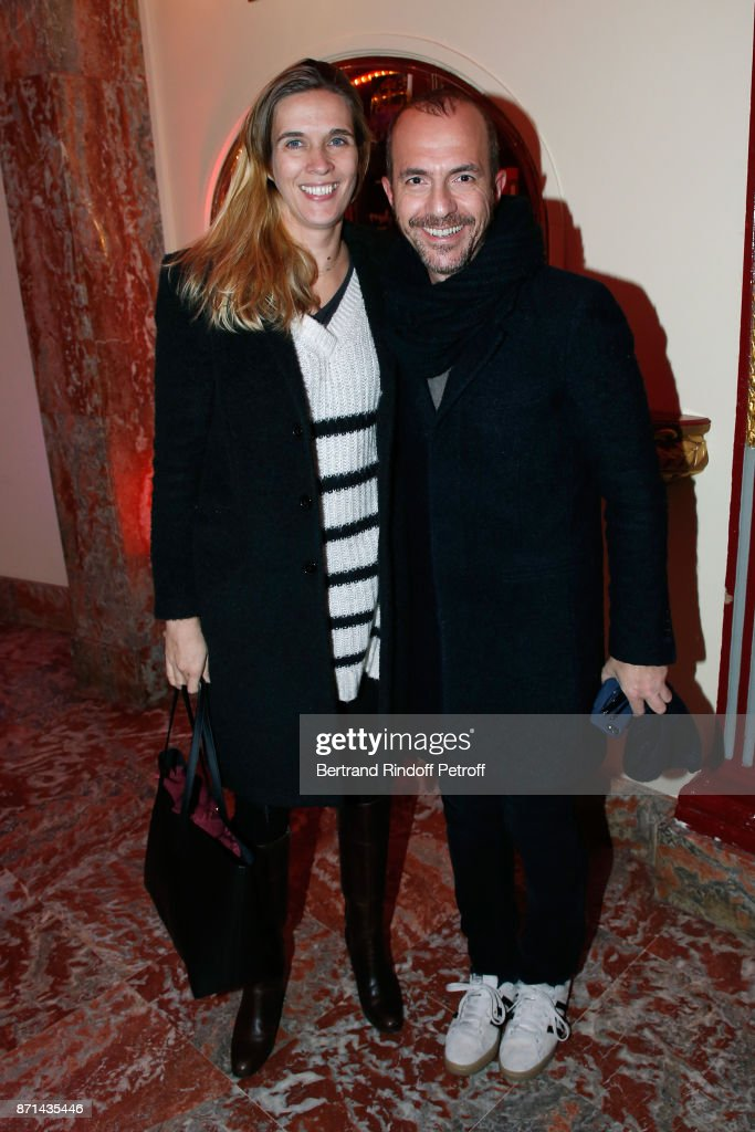 Singer Calogero and his companion Marie Bastide attend 'Depardieu Chante Barbara' at Le Cirque d'Hiver on November 7, 2017 in Paris, France.