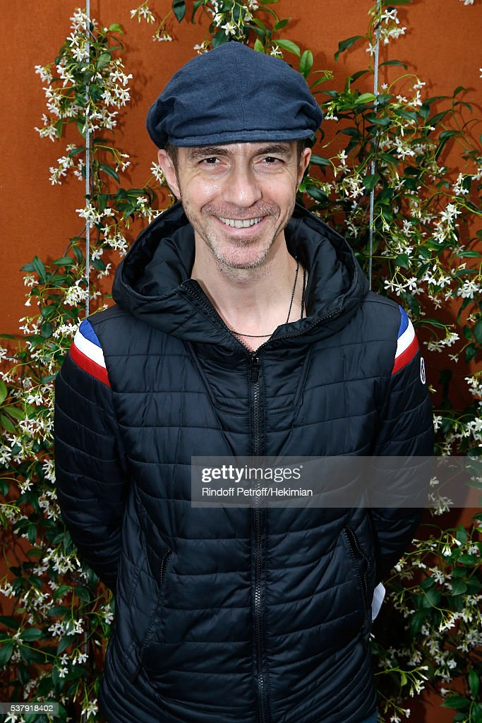 Singer Calogero attends Day Thirteen of the 2016 French Tennis Open at Roland Garros on June 3, 2016 in Paris, France.