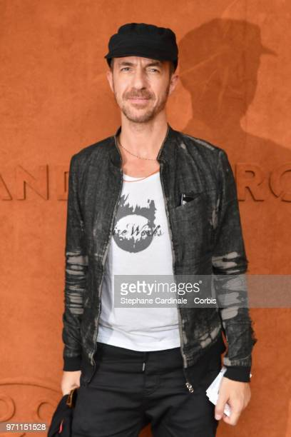 Singer Calogero attends the Men Final of the 2018 French Open Day Fithteen at Roland Garros on June 10 2018 in Paris France