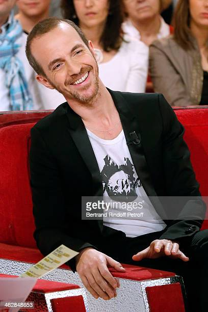 Singer Calogero; he is the songwriter and composer of 'Vieillir avec toi', the new album of main guest of the show, singer Florent Pagny; attends...