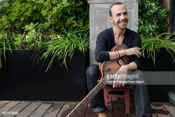 Singer Calogero is photographed for Paris Match on August 25 2017 in Paris France