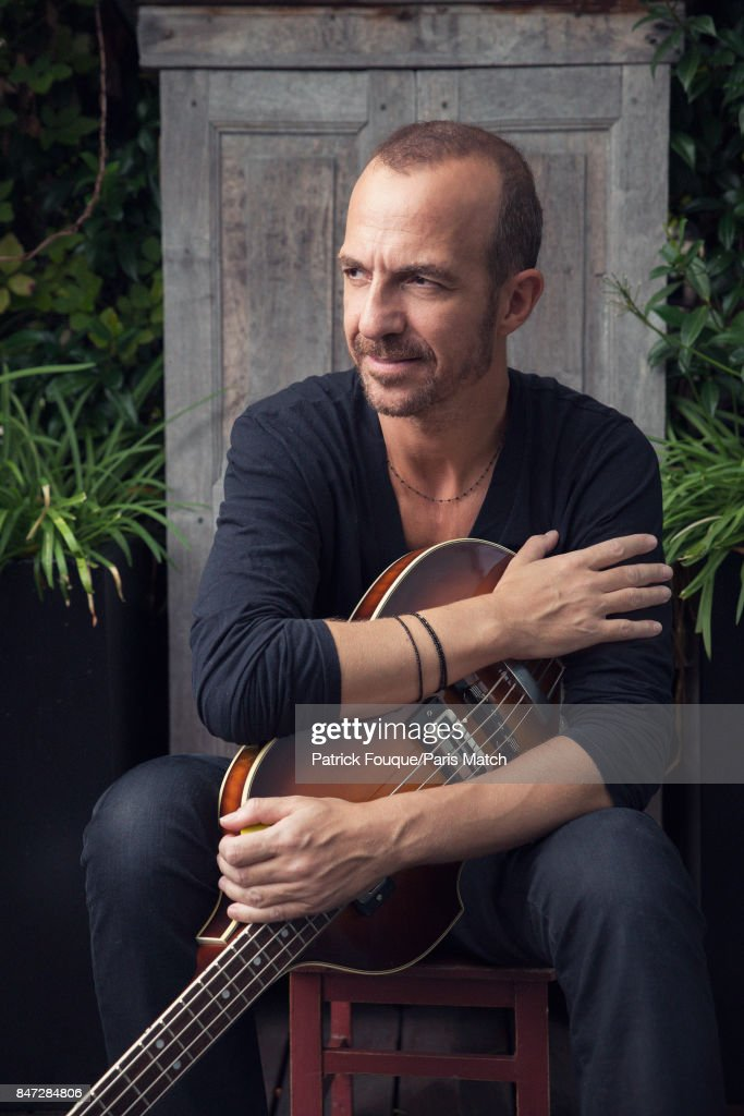 Singer Calogero is photographed for Paris Match on August 25, 2017 in Paris, France.