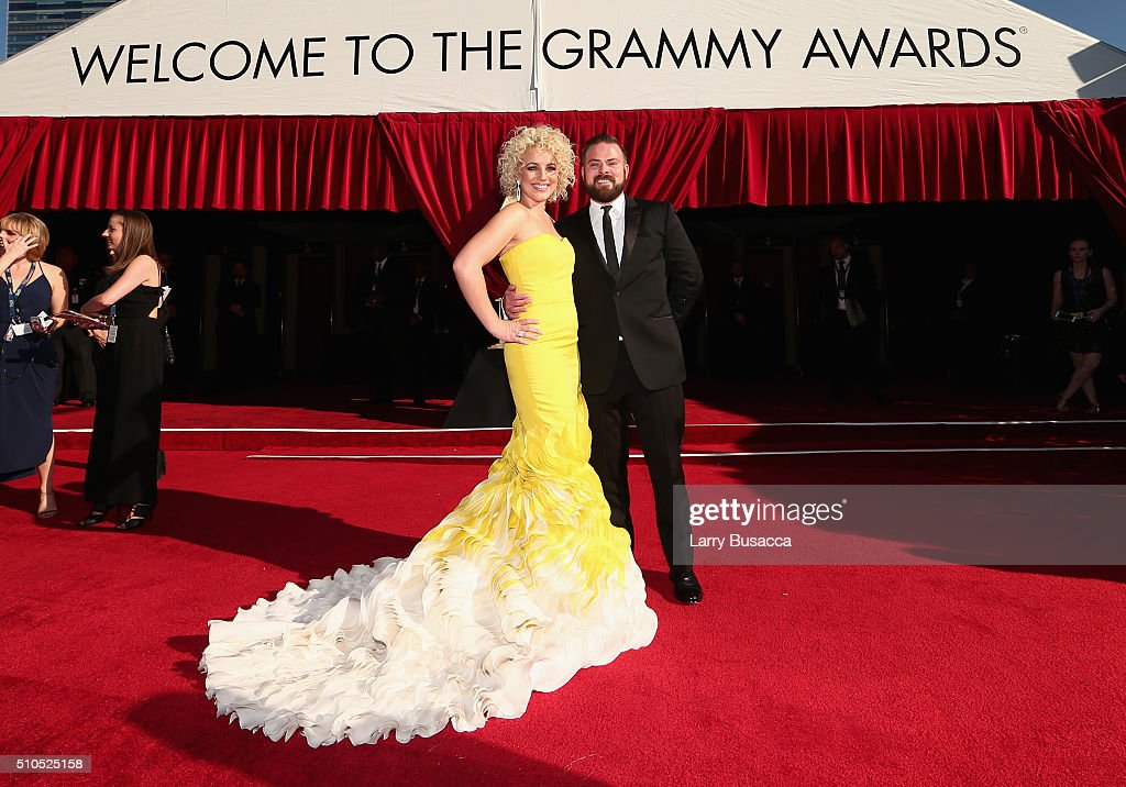 Singer Cam (L) and guest attend The 58th GRAMMY Awards at Staples Center on February 15, 2016 in Los Angeles, California.