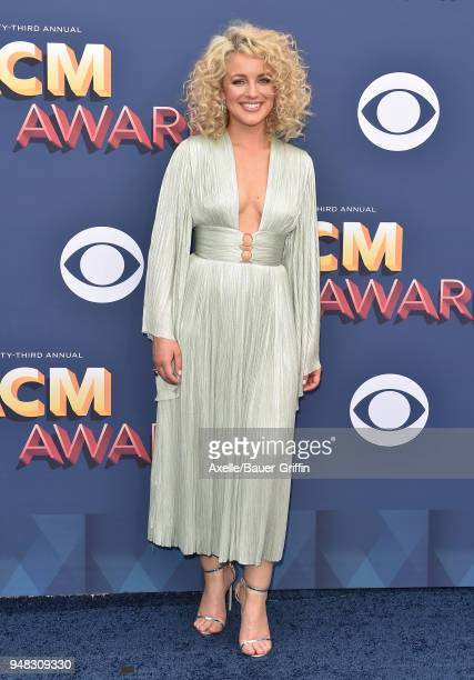 Singer Cam attends the 53rd Academy of Country Music Awards at MGM Grand Garden Arena on April 15 2018 in Las Vegas Nevada
