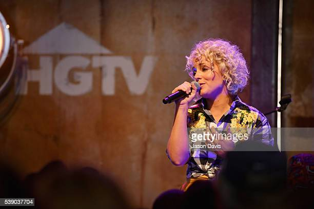 Singer Cam performs on stage at the HGTV Lodge at CMA Music Fest on June 9 2016 in Nashville Tennessee