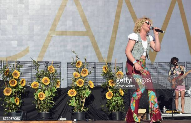 Singer Cam performs on the Toyota Mane Stage during day 3 of 2017 Stagecoach California's Country Music Festival at the Empire Polo Club on April 30...