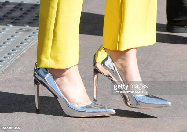 Singer Cam shoe detail attends the 52nd Academy Of Country Music Awards at Toshiba Plaza on April 2 2017 in Las Vegas Nevada
