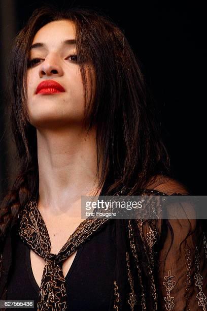 "Singer Camelia Jordana at festival ""les Musik'elles "" in Meaux"