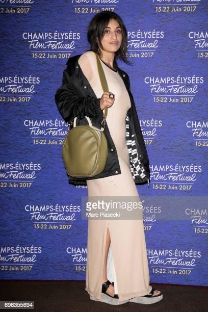 Singer Camelia Jordana attends the 6th 'ChampsElysees Film Festival' at Cinema Gaumont Marignan on June 15 2017 in Paris France